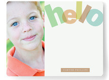 Big Bright Hello Children's Personalized Stationery