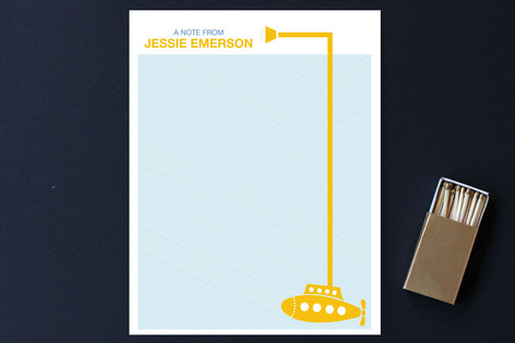 Yellow Submarine Children's Personalized Stationery