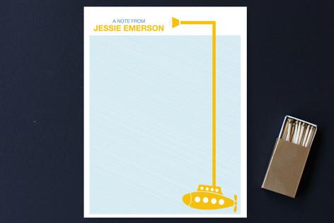 Yellow Submarine Children's Stationery
