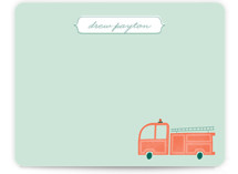 Fire Engine Children&#039;s Personalized Stationery