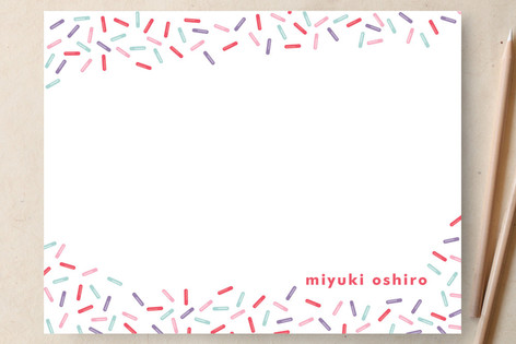 Sweet Sprinkles Children's Personalized Stationery