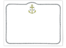 Girls like Anchors Children's Personalized Stationery