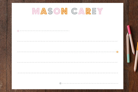 Budmo Dots and Lines Children's Personalized Stationery