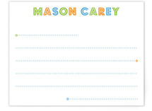 Budmo Dots and Lines Children&#039;s Personalized Stationery