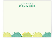 Citrus Scallopini Children&#039;s Personalized Stationery