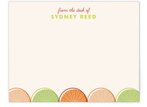 Citrus Scallopini Children's Personalized Stationery