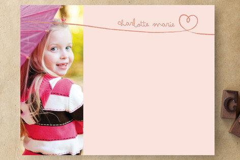 Sweetheart by Hand Children's Personalized Stationery