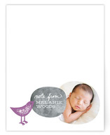 Note with Beeping Bird Children's Personalized Stationery