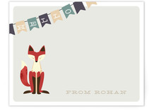 Fox &amp; Flag Children&#039;s Personalized Stationery