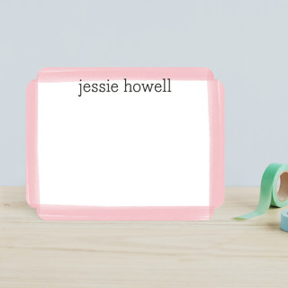 Brush Strokes Children's Personalized Stationery
