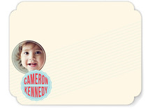 Simple Badge Children&#039;s Personalized Stationery