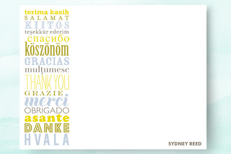 Many Thanks from Around the World Children's Personalized Stationery
