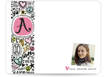 Doodle Initial Children&#039;s Personalized Stationery