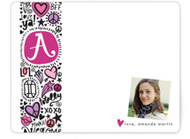Doodle Initial Children's Personalized Stationery