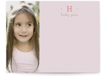 Pretty in Pink Children&#039;s Personalized Stationery
