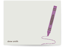 Crayon Children&#039;s Personalized Stationery