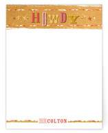 Howdy, Partner Children's Personalized Stationery