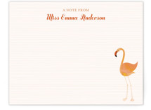 Fancy Flamingo Children's Personalized Stationery