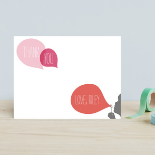 Blowing Bubbles Children's Personalized Stationery