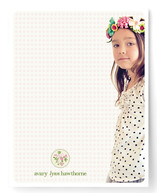 Avary's Wreath Children's Personalized Stationery