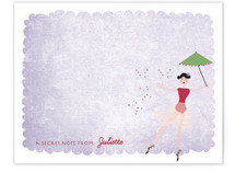 The Ballerina Children's Personalized Stationery