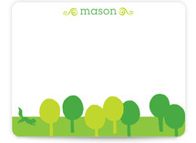 Cut Paper Forest Children&#039;s Personalized Stationery