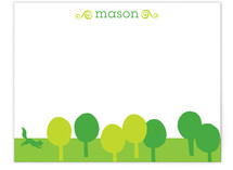Cut Paper Forest Children's Personalized Stationery
