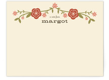 Floral Frame Children's Personalized Stationery