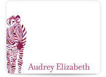 Zebra Children&#039;s Personalized Stationery