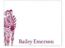 Zebra Children's Personalized Stationery