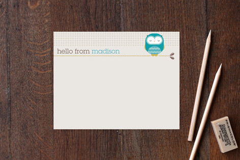 Owl Children's Personalized Stationery