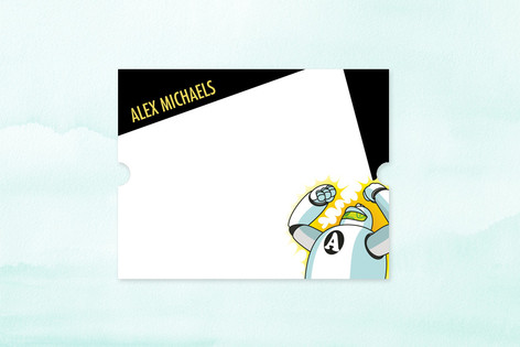 Robot Children's Personalized Stationery