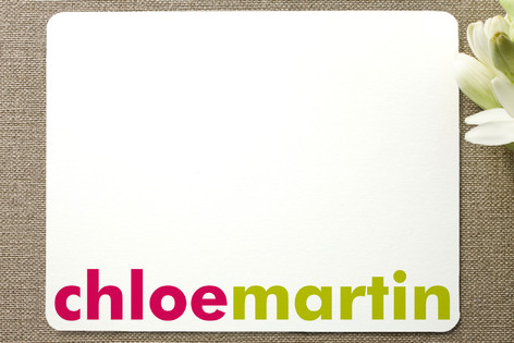 Accent Children's Personalized Stationery
