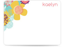 Retro Floral Children's Personalized Stationery