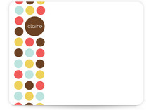 Circle Dot Children's Personalized Stationery