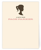 Vintage Silhouette Children's Personalized Stationery