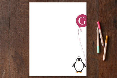 Penguin Fun Children's Personalized Stationery