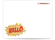Comic Book Kid Children's Personalized Stationery
