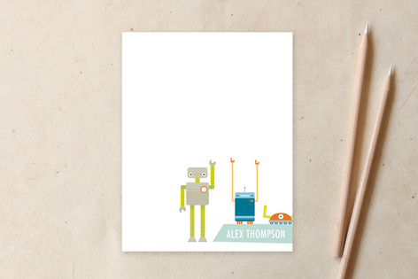 Robot Friends! Children's Personalized Stationery