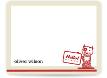 retro pup Children&#039;s Personalized Stationery