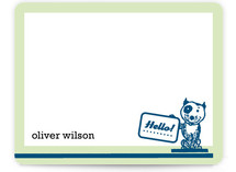 retro pup Children's Personalized Stationery