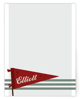 vintage pennant Children&#039;s Personalized Stationery