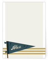 vintage pennant Children's Personalized Stationery