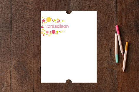 pop dot Children's Personalized Stationery