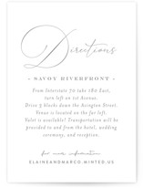 quiche Letterpress Directions Cards