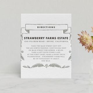Chalkboard Letterpress Directions Cards