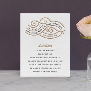 Linea Letterpress Directions Cards