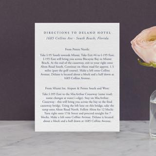 Delano Letterpress Directions Cards