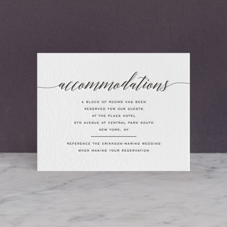 Someone Like You Letterpress Directions Cards