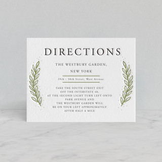 Winter's Frame Letterpress Directions Cards